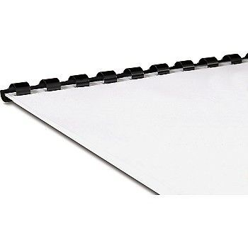 Innbindingsspiral plast A4 6 mm, Sort (100 stk)
