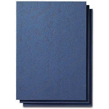 Innbindingsbakside kartong A4 250g, Blå (100 stk)
