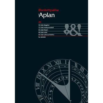 Aplan Mini, Blankettpakke, pk. à 48 ass. ark