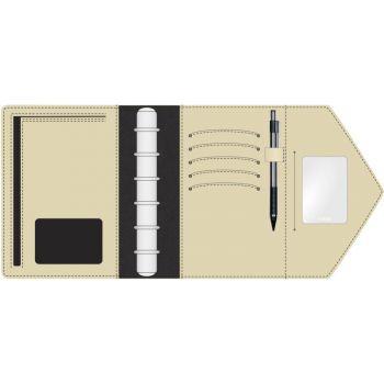 Aplan Nanna A6 13,5x18,5cm, sort, omslag i imitert skinn