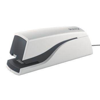 Stiftemaskin elektrisk Leitz 5532, hvit (inntil 10 ark)
