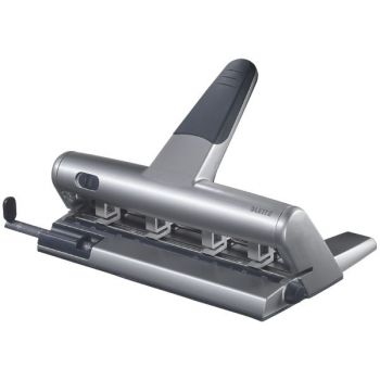 Hullemaskin Leitz 5114 4-hull, Sort-Sølv