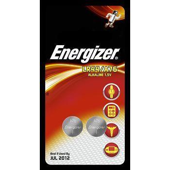 Batteri 1,5V Energizer A76 LR44. Pakke á 2stk