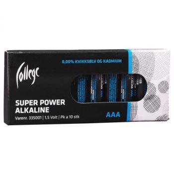 Batteri 1,5V College AAA LR03 (10 stk)