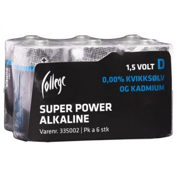 Batteri 1,5V College LR20/D (6 stk)