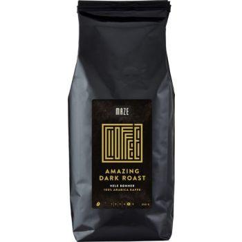 Kaffe hele bønner Maze mørkbrent, 250 gr
