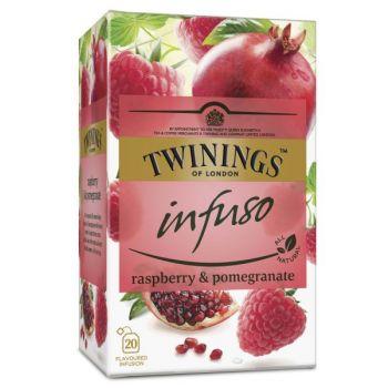 Te - Twinings Infusio bringebær & granateple (20 poser)