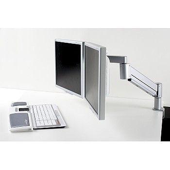 Flatskjermarm med plass for to skjermer