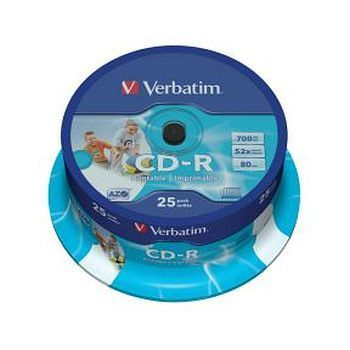 CD-R Verbatim 700MB 52X printbar