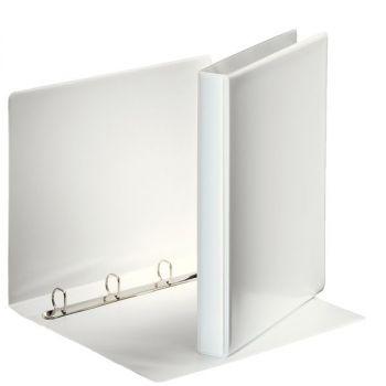 Innstikkperm A4 PVC, 4 rings 20mm, Hvit
